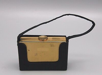 Vtg Elgin American Compact Carry All Minaudiere Signed Puff Damage to Back