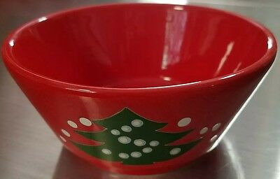 Waechtersbach Red Christmad Tree small bowl West Germany no marking