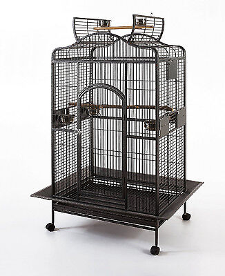 Large Bird Parrot Open PlayTop Cage Cockatiel Macaw Conure Aviary Finch Cage 482