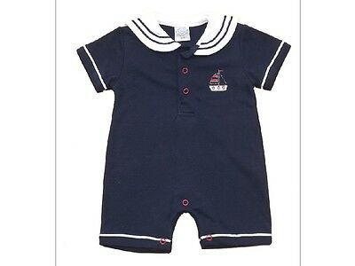 Baby Boys Romper Sailor Style Navy  0-9 months Little Mariner