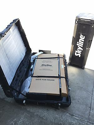 Skyline Exhibit 10' Pop-up Trade Show Booth Wall Display Kit Table Set w Lights