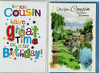 Various Male Cousin Birthday Cards