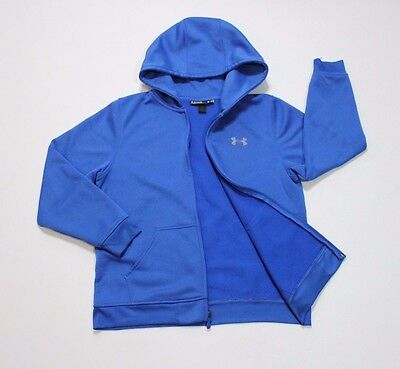 Boy's Youth Under Armour Loose Logo Hoodie Blue Size L