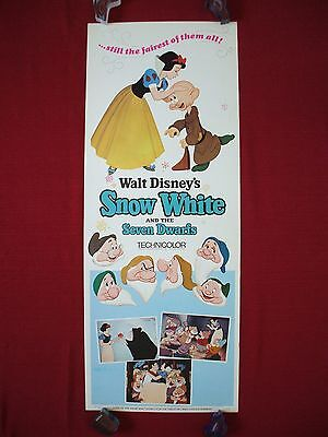 Snow White And The Seven Dwarfs * Original Movie Poster Insert W. Disney's 1967R