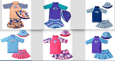 UV Skinz Girs' 3 Piece Swim Set UPF 50+ Sun Protection Variety Pattern/Size NEW!
