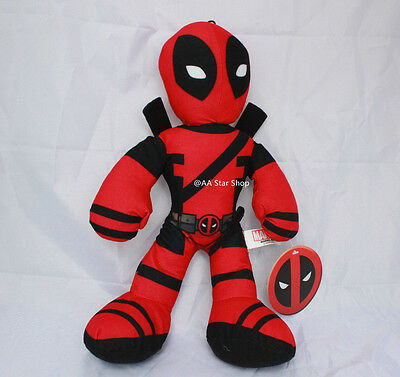 "Marvel Deadpool 14"" Plush Stuffed Collectors Edition Authentic Kids Adult Toy"