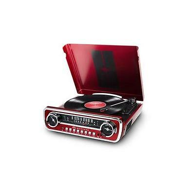 Ion Mustang-Lp-Red It69 Classic Car-Styled Music Center