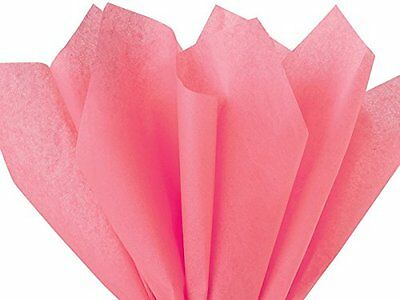 """Coral Rose Tissue Paper, 100 Gift Wrapping Sheets, PomPoms Color Pink, 15""""X20"""""""