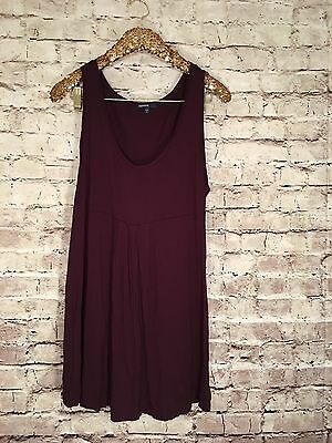 Women's Gap Maternity Empire Waist Sleeveless Dress XL Burgundy