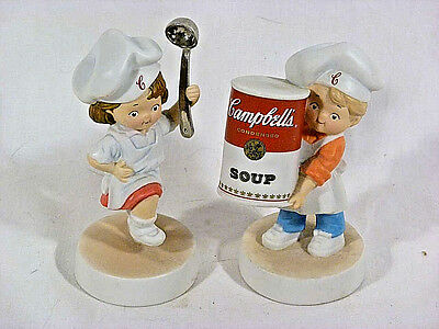 Set of (2) Collectible Campbell Kids Porcelain Figurines - 2003
