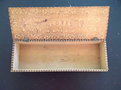 Vintage wooden Glove Box