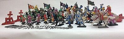 New 120 Pcs Toys Dragon Figurines Knight Fantasy Soldier Set Medieval Times Kids