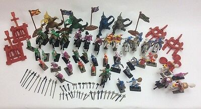 New 120 Pcs Medieval Times Soldier Set Dragon Figurines Knight Kids Fantasy Toys