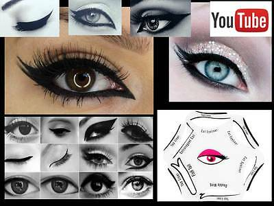 6 in 1 Eye Liner Template Eyeliner Stencil Quick Smoky Cat Makeup Guide Tool