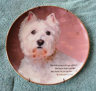 Limited Edition Danbury Mint Collector Plate-Eyes Of Love-Beloved Westies