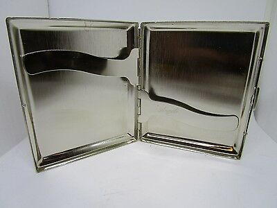 VINTAGE METAL CIGARETTE CASE ~ ~ ~ Silver Colour cigerette holder chrome NOS #1