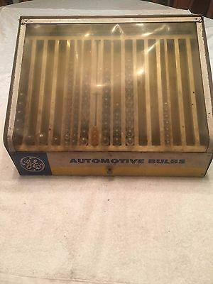 GE Automotive Bulbs Metal Parts Store Counter Display Case Auto Lamps Vintage