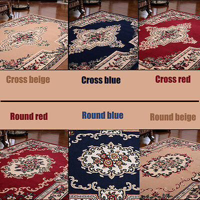 Traditional Oriental Rug Persian Style Floral Medallion Area  Carpet Runner Mat