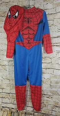 Boys Spider-Man Costume by Disguise Size 4-6 Jumpsuit & Mask Halloween Costume