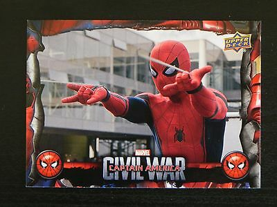 2017 UD Spider-Man Homecoming Civil War Images CW6 WALMART EXCLUSIVES