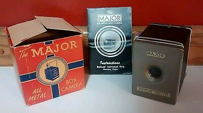 The Major All Metal Box Camera National Instruments Corp With Box & Instructions