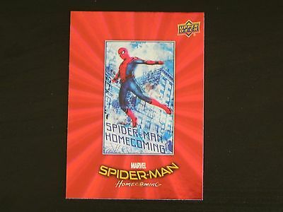 2017 UD Spider-Man Homecoming RED FOIL RB-50 Spider-Man WALMART EXCLUSIVES