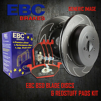 NEW EBC 300mm FRONT BSD PERFORMANCE DISCS AND REDSTUFF PADS KIT PD17KF054