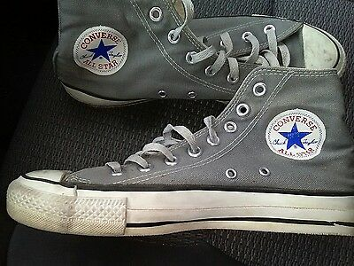 Vtg Converse Gray Chuck Taylor All Star High Top Sneakers Made in USA Men's 7