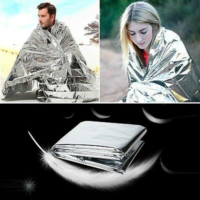 Outdoor Emergency Solar Blanket Survival Safety Insulating Mylar Thermal Heat 1x