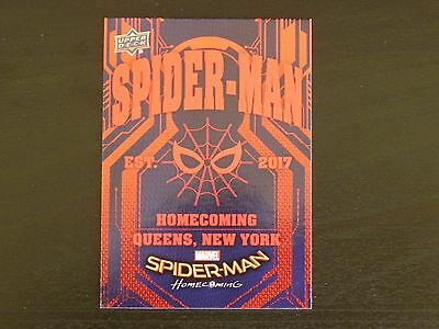 2017 UD Spider-Man Homecoming RB-47 Spider-Man Queens NY WALMART EXCLUSIVES