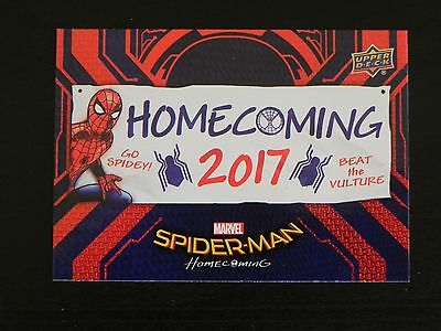 2017 UD Spider-Man Homecoming RB-49 Spider-Man WALMART EXCLUSIVES