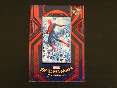 2017 UD Spider-Man Homecoming RB-50 Spider-Man WALMART EXCLUSIVES