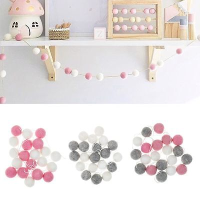 Wool Felt Ball Handmade Pom Pom Garland String Kids Room Decor Hanging Ornament