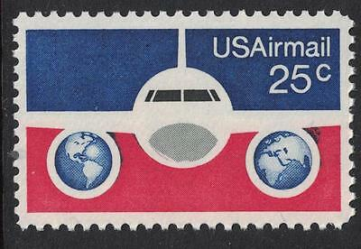 Scott C89- Plane and Globes- 25c MNH 1976- unused mint AIRMAIL stamp