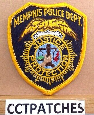 Memphis, Tennessee Police With Hand & Dept Shoulder Patch Tn