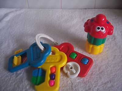 Baby's Fisher Price Activity Keys & Stacking Beetle Blocks VGUC