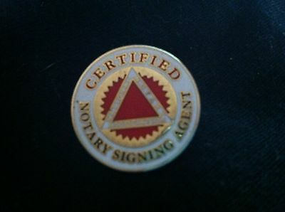 National Notary Assoc Certified Signing Agent lapel pin