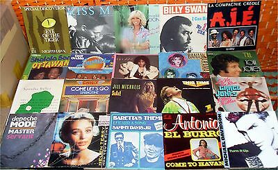 40 POP / DISCO SINGLES * TOP Zustand - ALLE mit FOTO ua. TOM JONES * CHICAGO (2)