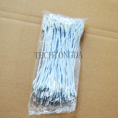 NEW 100pcs White Security Lanyard Loop for EAS Checkpoint #170409