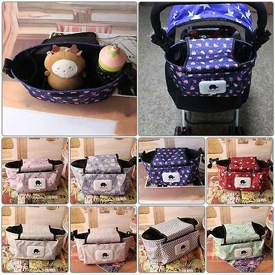 Fashion Pram Baby Trolley Storage Bag Stroller Cup Carriage Buggy Organizer New