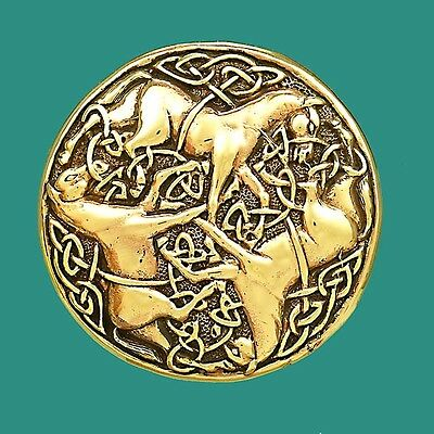 Inverurie Horses Brooch Pin Traditional Celtic Design Virility Strength Stamina