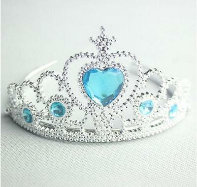 Tiara Girls CHILDRENS  dressing up Princess Frozen  Pink Blue  GOLD party
