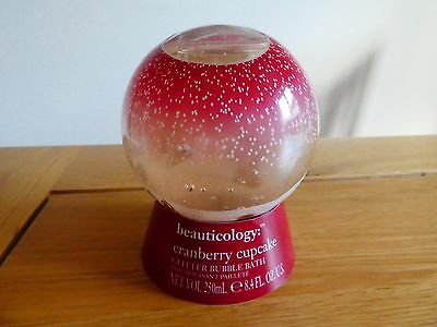 Baylis & Harding Beauticology Ginger Breadman Snow Globe Bubble Bath Cranberry