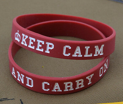 "Rubber Braccialetto / Bracelet ""Keep Calm and Carry On"""