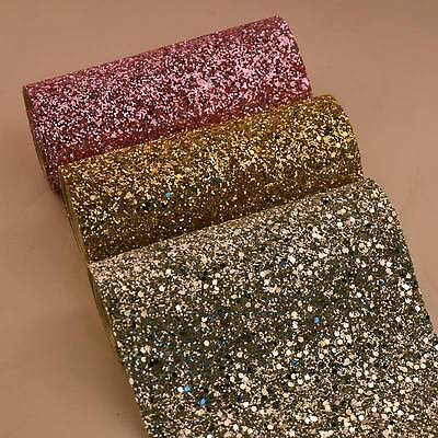 Chunky Glitter Sequin Fabric Grade 3D Wall Bling Card Making Table Bow Art Craft