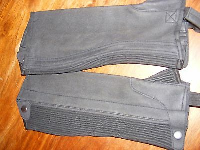 NEW EuroSport by Ascot Girl's sz 12 Riding chaps charcoal RRP $59.95