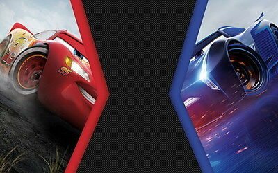 "032 Cars 3 - Pixar Lightning McQueen 2017 Cartoon Movie 22""x14"" Poster"