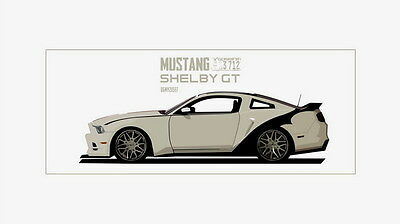 "108 Mustang - Ford Super Racing Car concept vintage shelby gt500 24""x14"" Poster"
