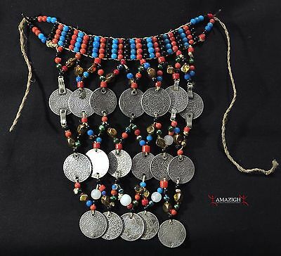 Old Berber Necklace – Old Silver Coins - Rissani, Morocco