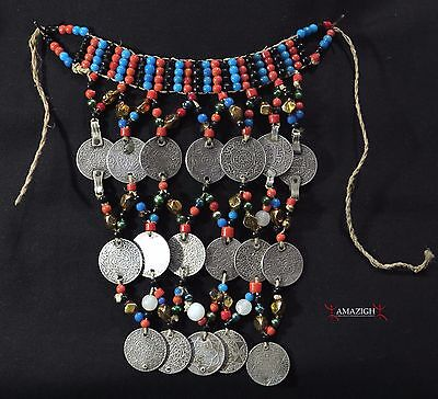 Old Berber Pectoral – Old Silver Coins - Rissani, Morocco